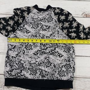 Free People Tops - Free people Womens black white button jacket xsmal
